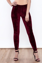 Always Burgundy Velvet Leggings