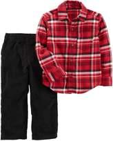 Carter's Toddler Boys Gingham Button Down Pants Set (T, )