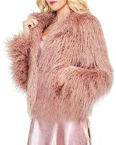Vince Camuto Long Hair Faux Fur Crop Jacket