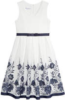 Bonnie Jean Floral Embroidered Mesh Dress, Big Girls