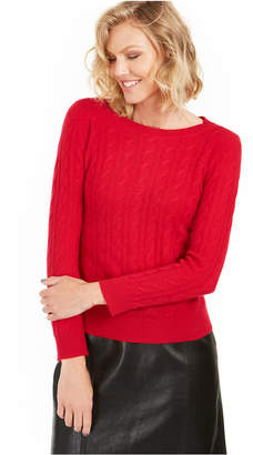 Charter Club Cable-Knit Cashmere Sweater, Regular & Petite Sizes