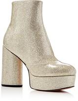 Marc Jacobs Amber Metallic Glitter Platform High Heel Booties