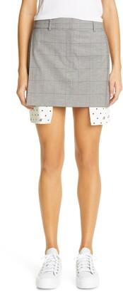 Monse Plaid Suiting Miniskirt