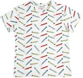 Au Jour Le Jour Pencils Printed Cotton Jersey T-Shirt