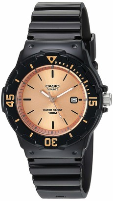Casio Women's Classic Stainless Steel Quartz Watch with Resin Strap