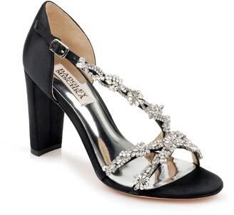 Badgley Mischka Omega Crystal Embellished Sandal