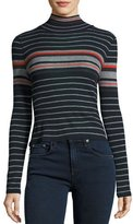 Rag & Bone Fine Wool Turtleneck, Salute Stripe