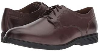 Hush Puppies Shepsky Plain Toe Oxford (Black Leather) Men's Shoes