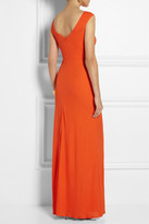 Issa Ruched crepe gown