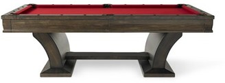 Plank & Hide Paxton 8' Slate Pool Table With Professional Installation Included Felt Color: Green