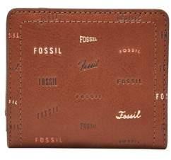 Fossil Logan Small Rfid Bifold Wallet Brown Multi