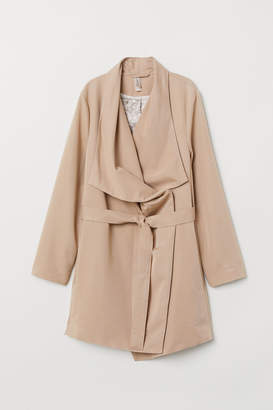 H&M Coat with Draped Lapels