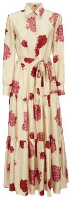 La DoubleJ Bellini Floral Maxi Shirt Dress