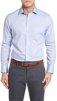 John W. Nordstrom R) Regular Fit Non-Iron Paisley Dobby Sport Shirt (Regular)