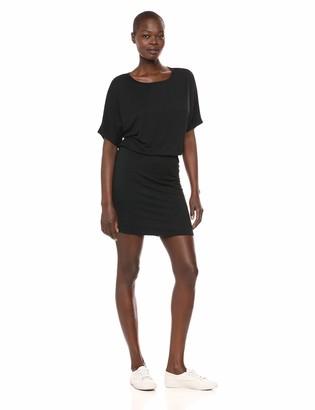 Michael Stars Women's Jules Jersey Erynn Boatneck Dress Noir Small