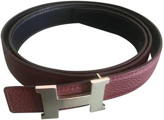 Hermã ̈S HermAs H Burgundy Leather Belts