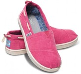 Toms Earthwise cranberry bimini youth vegan classics