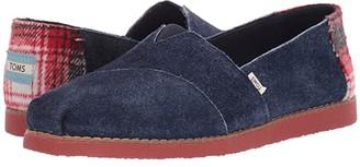 Toms Alpargata Faux Crepe Navy Tip Shaggy Suede) Women's Shoes