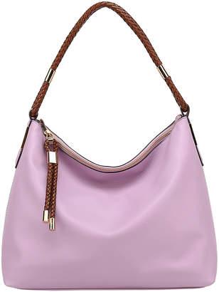 Mkf Collection By Mia K. MKF Collection by Mia K. Women's Handbags Lillac - Lilac Braid-Tassel Hobo