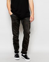 G Star G-Star Jeans Arc Zip 3d Slim Fit Slander Black Superstretch Aged Cobler