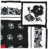 Kenzo spray paint effect multi icon scarf