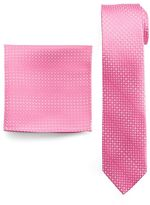 Van Heusen Men's Patterned Glow-In-The-Dark Skinny Tie & Pocket Square