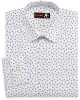 Jf J.Ferrar Easy-Care Stretch Big & Tall Long Sleeve Broadcloth Floral Dress Shirt