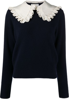 Sandro Paris Contrast-Collar Jumper