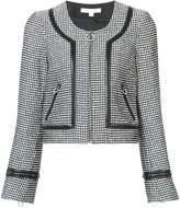 Jonathan Simkhai zipped two-tone jacket