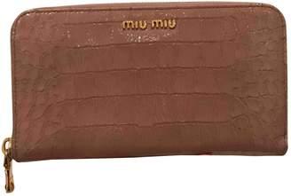 Miu Miu Pink Patent leather Wallets