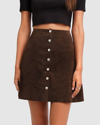 Belle & Bloom Women's Mini skirts - Into The Woods Leather Mini Skirt - Size One Size, S at The Iconic