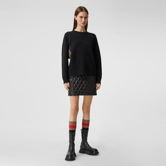 Burberry Monogram Motif Cashmere Bend Sweater