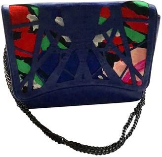 Leonard Blue Leather Handbags