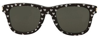Saint Laurent 50MM Heart-Embellished Square Sunglasses