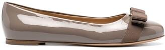 Salvatore Ferragamo Vara bow flat ballerina shoes