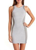 Charlotte Russe Pieced Stripe Body-Con Dress