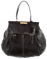 Miu Miu Distressed Leather Large Hobo