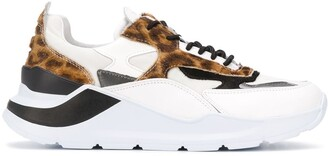 D.A.T.E Animal-Print Low-Top Sneakers