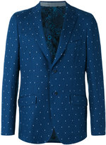 Etro dot weave two-button jacket - men - Silk/Cotton/Cupro - 50