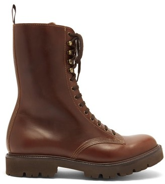 Grenson The 14 Eye Lace-up Leather Boots - Brown