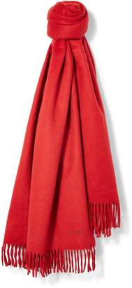 Hermes Red Cashmere Shawl