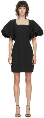 Edit Black Balloon Sleeve Mini Dress