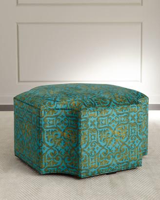 John-Richard Collection Trellis Ottoman