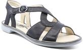 Fly London Women's Sandals 000 - Black & Bronze Cula Leather Sandal - Women