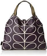 Orla Kiely Womens Matt Laminated Linear Stem Print Large Holdall Messenger Bag
