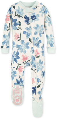 Burt's Bees Botanical Gardens Organic Baby Zip Front Snug Fit Footed Pajamas