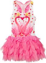 Kate Mack - Biscotti Pink Flamingo Print Tutu Dress