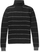 Mcq Alexander Mcqueen - Striped Wool And Cashmere-blend Rollneck Sweater
