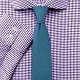 Charles Tyrwhitt Extra slim fit non-iron spread collar basketweave check purple shirt
