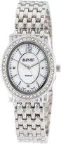 August Steiner Women's AS8043SS Dazzling Diamond Oval Bracelet Watch
